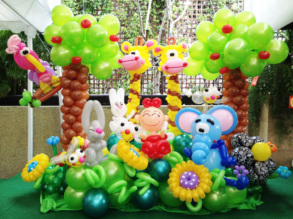 Premium garden balloons backdrop display party fiestar for Balloon decoration for kids