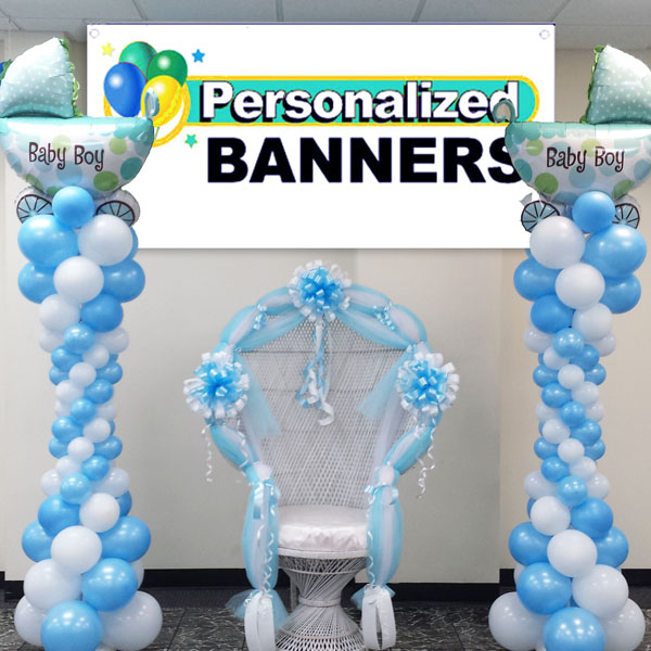 Cheapest balloon decorations for birthday party party for Baby shower decoration ideas with balloons