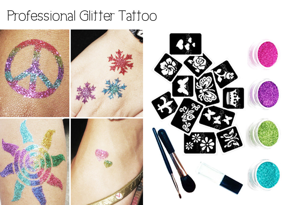 Glitter tattoo for parties party fiestar the best kids for Tattoo for kid