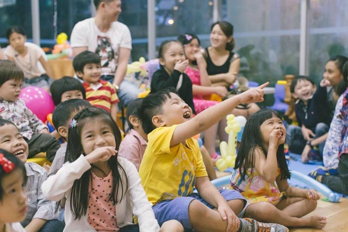 Kids having fun during Magic Show