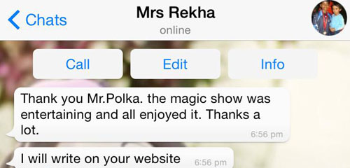 testimonial for Mr Polka