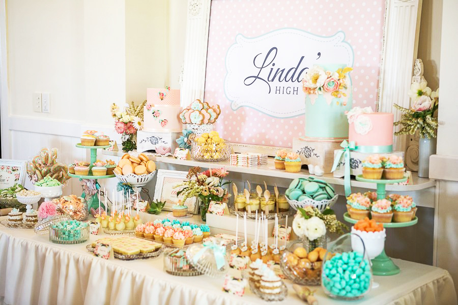 35 delicious bridal shower desserts table ideas table for Wedding shower decorations ideas