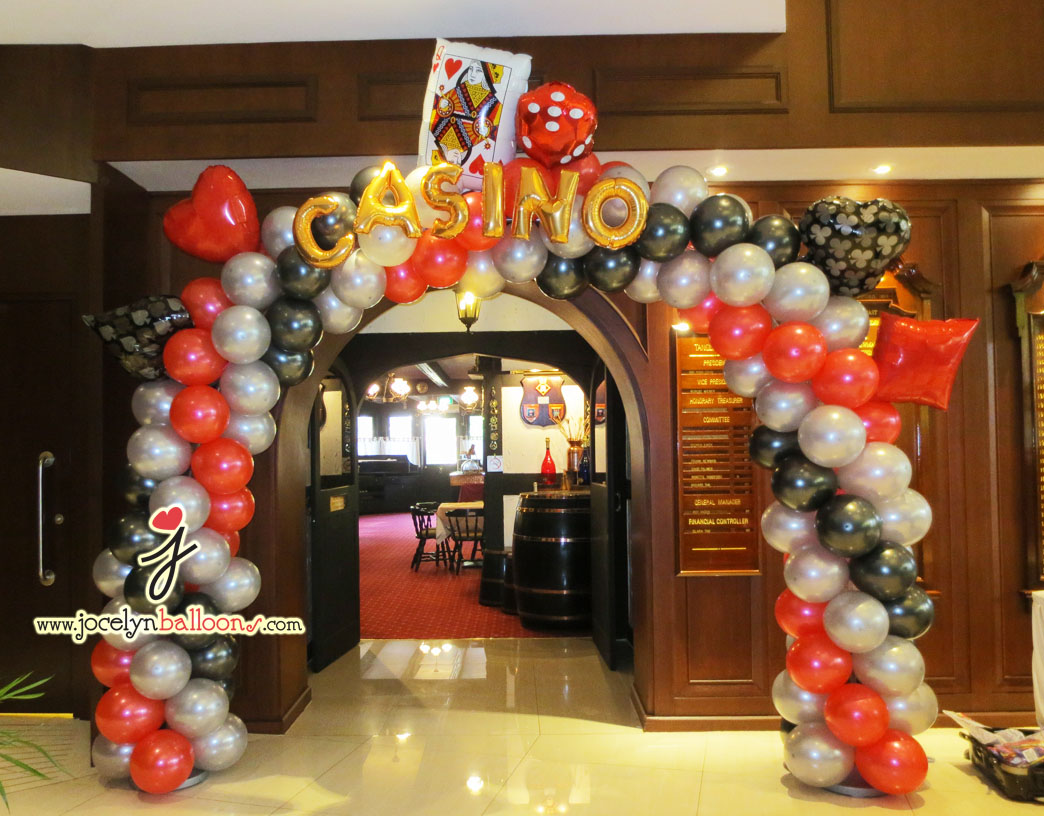 Casino theme Balloon Arch