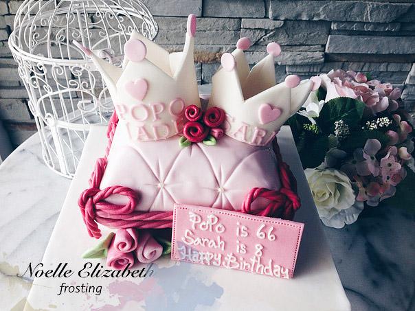 birthday fondant cake by noel