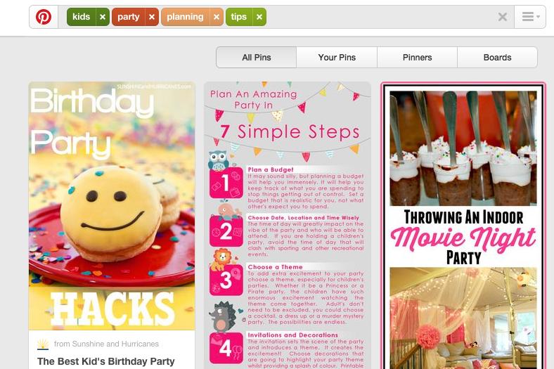 pinterest kids party planning