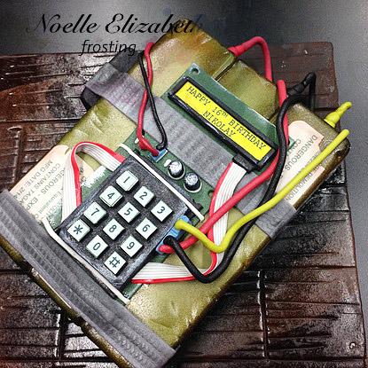 time bomb fondant cake