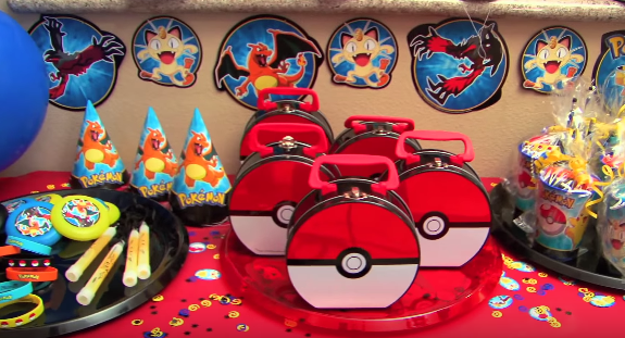 pokemon theme kids birthday party