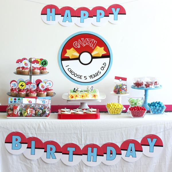 pokemon theme birthday party singapore