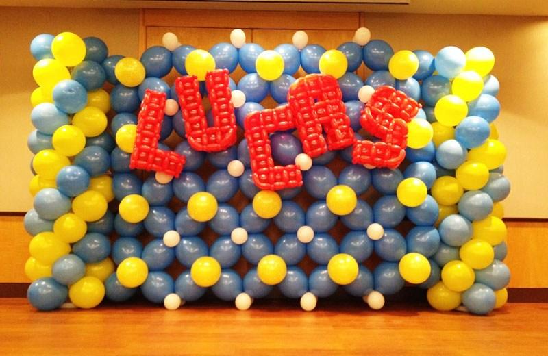 lucas birthday balloon backdrop